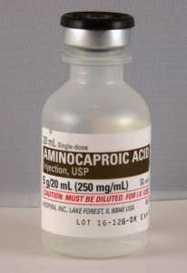Aminocaproic Acid Injectable 5 g/20 ml (250 mg/ml)