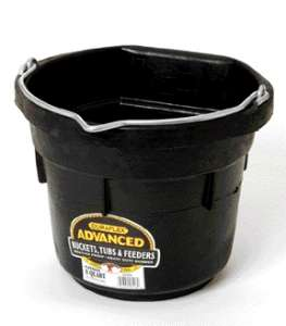 Flat Back Rubber Bucket