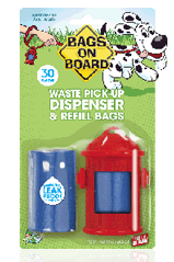 Bags On Board Fire Hydrant Waste Bag Dispenser & Bags