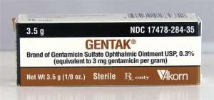 Gentak Ophthalmic Ointment
